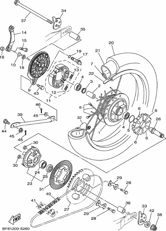 gladstone motorcycles ag125 2017 rear wheel Yamaha TTR 125 please